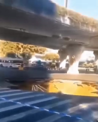 广州大道与禺东西路交叉口路面塌陷。受访者供图