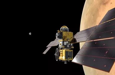 欧洲研制的地球返回轨道器将跟踪并抓取在轨道上装有样本的容器。 来源:美国《科学》杂志