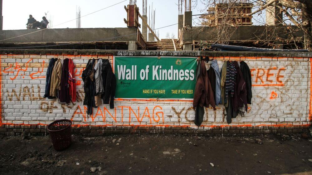 """位于安南塔那添的""""爱善心墙"""""""
