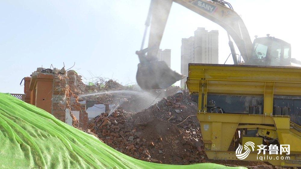 """建筑垃圾变身再生花砖 济南重点推进建筑垃圾""""变废为宝"""""""