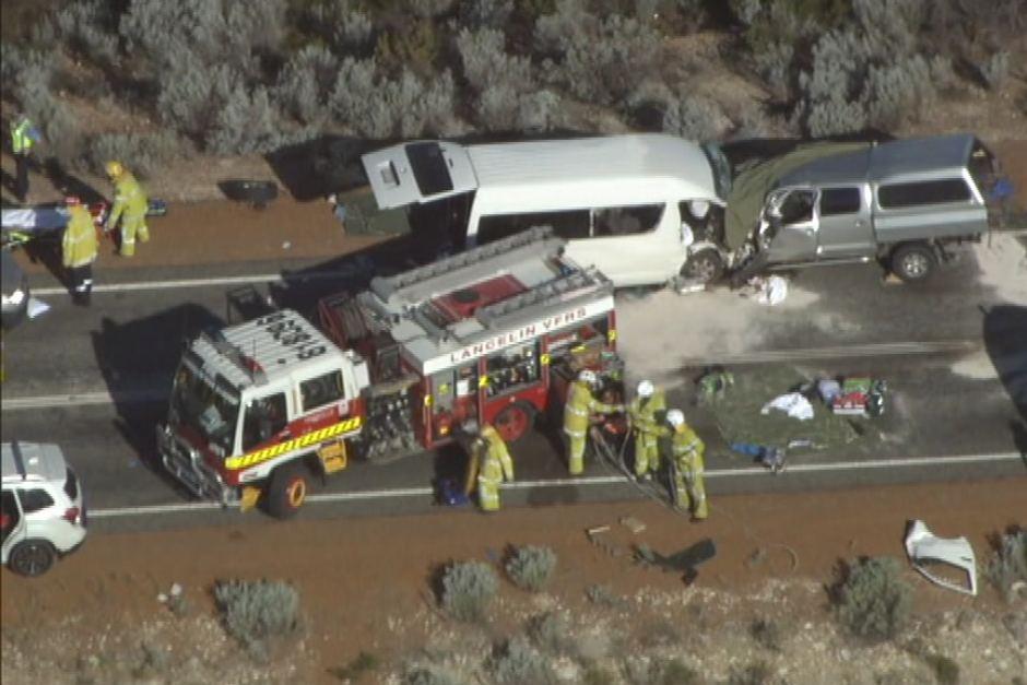 车祸现场。图片来源/当地媒体