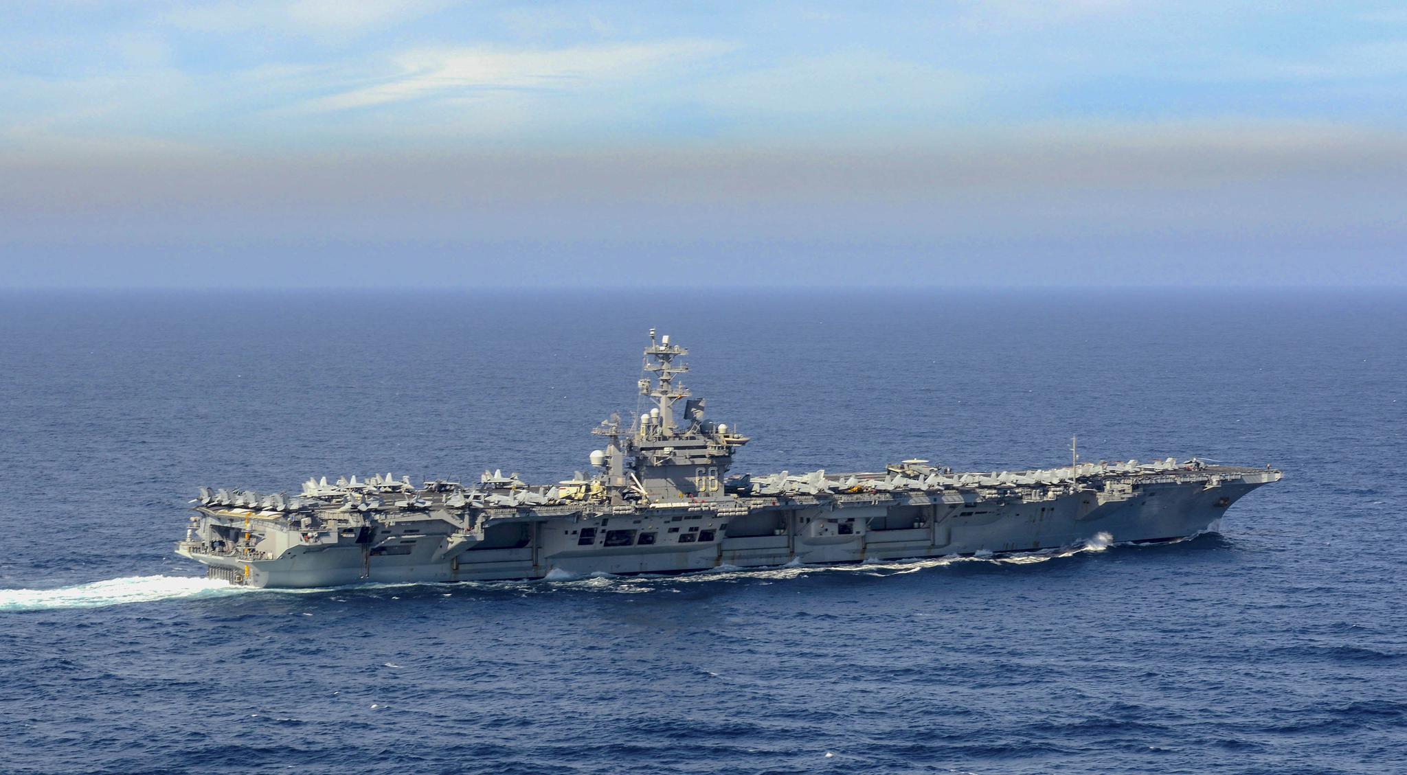"""正在向西太平洋方向航渡的""""尼米兹""""号航空母舰"""