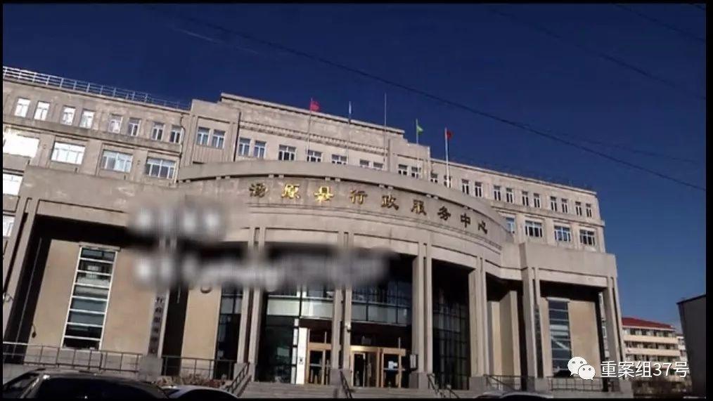 ▲汤原县走政服务中心。视频截图