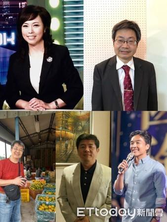 江惠颂(左上)、李梁坚(右上)、林立人(下左)、李铭义(下中)、曹桓荣(下右) 。(图片来自台媒)