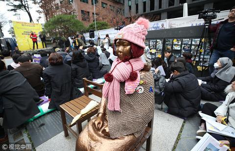 韩国慰安妇雕像 (图源:视觉中国)