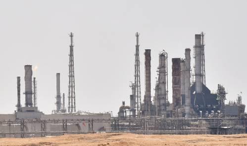 图为9月15日在沙特阿拉伯始都利雅得附近拍摄hg0088官网足球网址处沙特阿美石油公司hg0088官网石油设施。新华社/法新