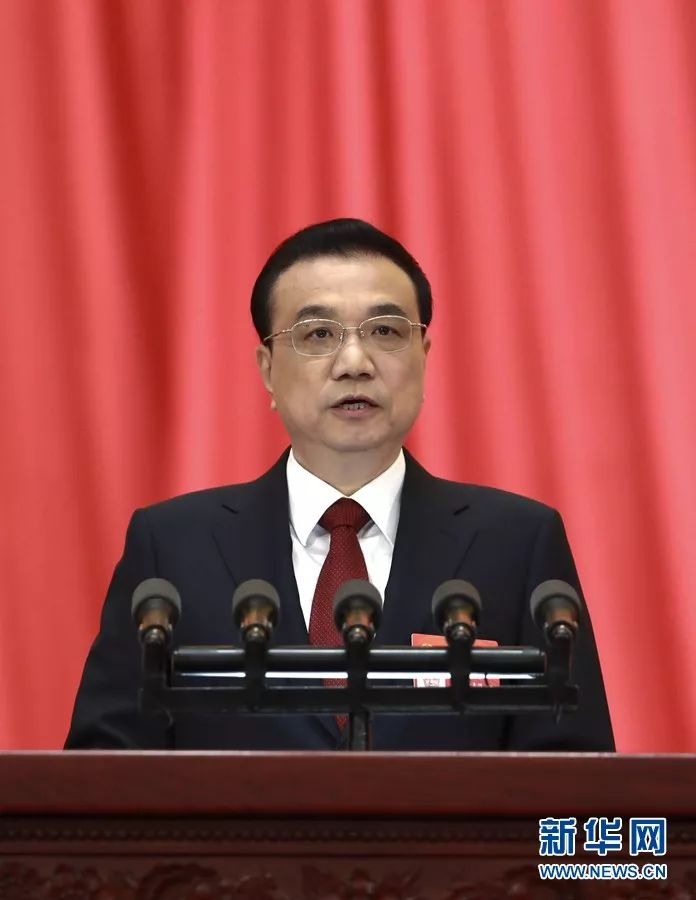 3月5日,第十三届全国人民代表大会第二次会议在北京人民大会堂开幕。国务院总理李克强作政府工作报告。 新华社记者庞兴雷摄
