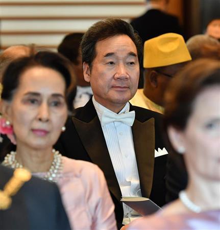 李洛渊参加日本天皇德仁的即位典礼(日本《产经新闻》)