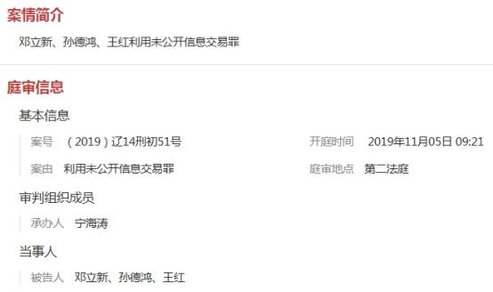 """庭审画面曝光!投资总监邓立新""""老鼠仓""""案大白天下"""