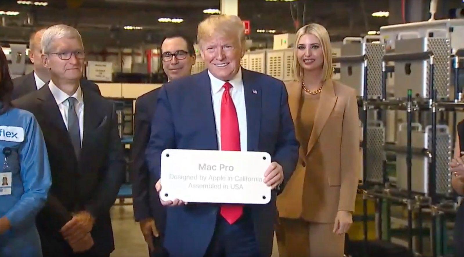 特朗普参不悦目苹果工厂 视频截图
