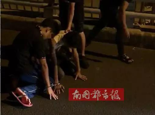 嫌疑人被抓获(视频截图)