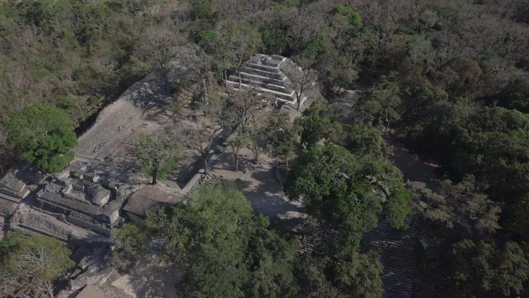 洪都拉斯科潘王宫区遗址航拍图。社科院考古所供图
