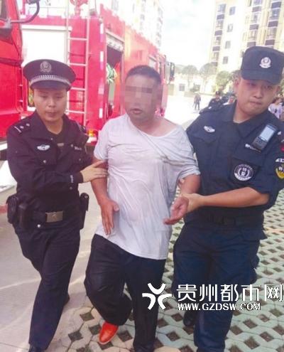 刘某被控制。 警方供图