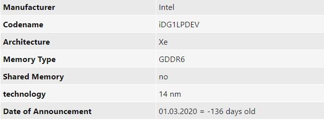 英特尔基于Gen 12架构的Xe DG1独显,预计将于明年初发布
