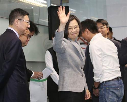 现任台湾地区领导人蔡英文(图片取自台媒)