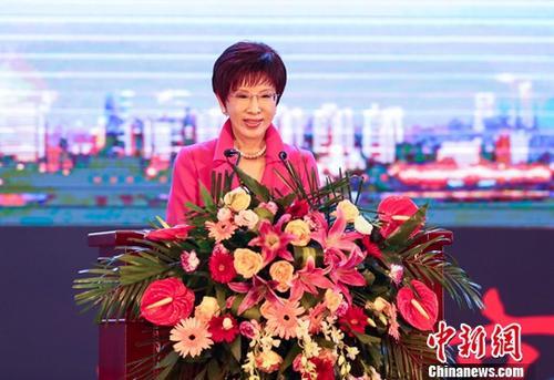 原料图:中国国民党前主席洪秀柱。中新社记者 张畅 摄