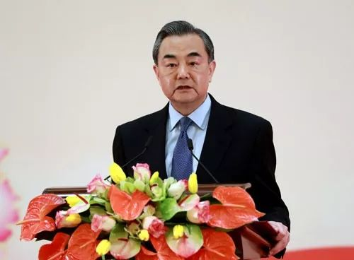 ▲1月30日,中国外长王毅在新年招待会上致辞。(外交部官网)