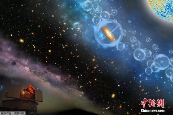 资料图:宇宙中的黑洞。