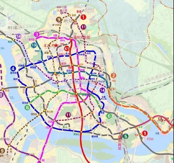 福州地铁5号线路图_20条地铁线?!福州地铁规划又又又有新变化!|福州|规划图|长乐 ...