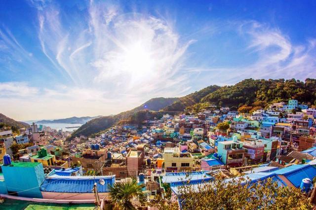 甘川文化村 阳光照亮的童话世界