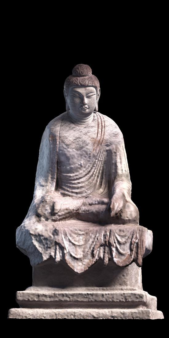 天龙山17窟佛像(唐)