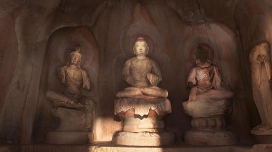 天龙山21窟佛、菩萨像(唐)
