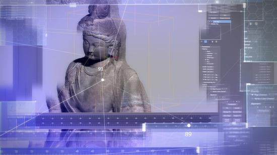 数字复原造像制作过程