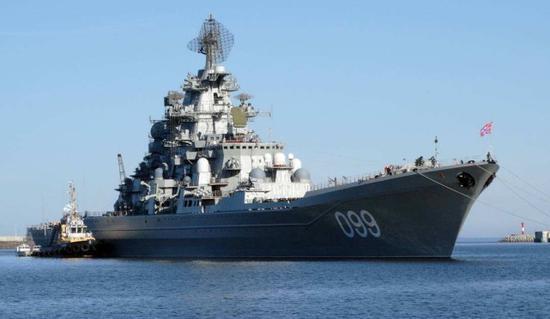 原料图:俄海军彼得大帝号核动力巡洋舰