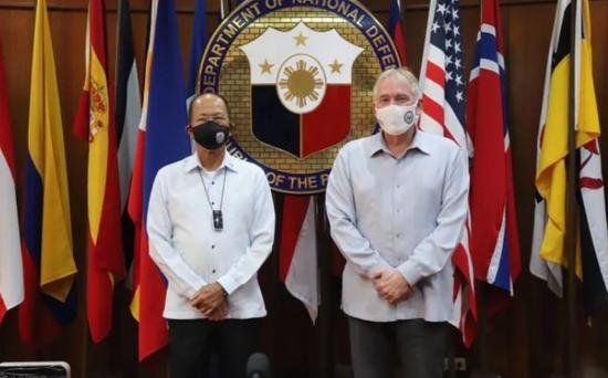 菲防长:若中美在南海爆发热战 菲律宾也将参与冲突