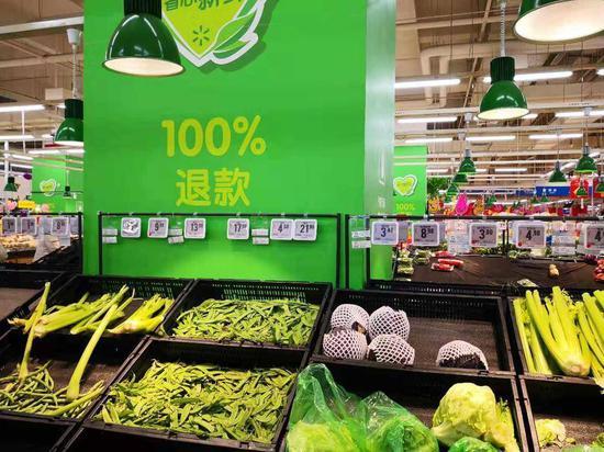 沃尔玛北京某超市,虎嗅摄