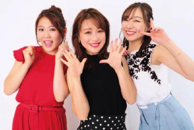左起铃木奈奈、西野未姬、须田亚香里2