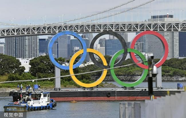 東京奧運會五環標志撤除 與殘奧會交接
