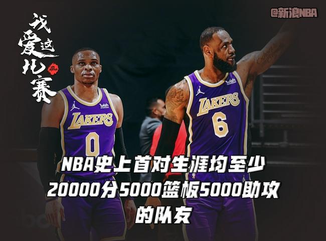 詹姆斯威少联手创造历史!NBA历史最全能队友