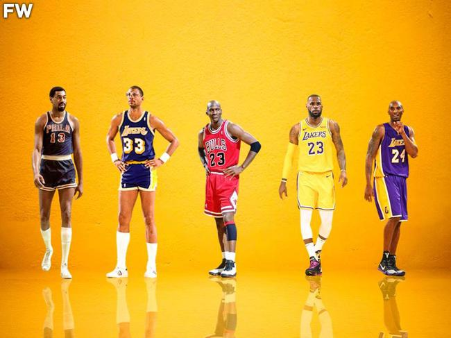 汤爹评选心目中NBA历史前5:张伯伦天勾乔詹科