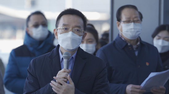 (美年大健康集团董事长俞熔为200名援鄂医护人员送行、致辞)